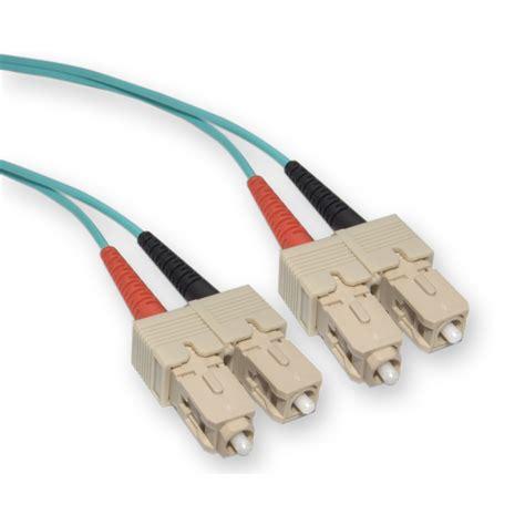 10 gigabit fiber cable 1 meter 10gb aqua sc sc om3 duplex fiberoptic cable 50 125