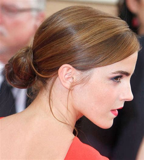 low bun with short hair low bun hairstyle hollywood official