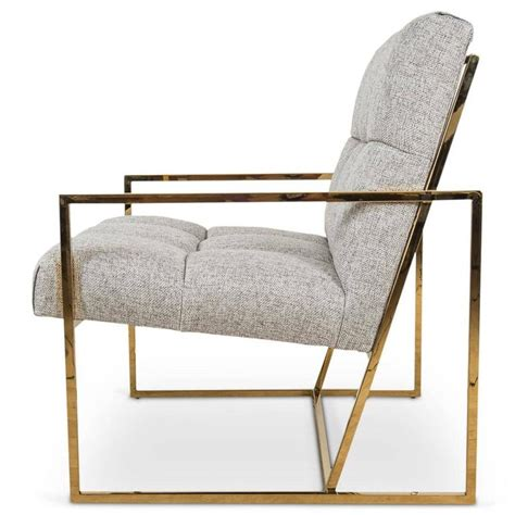 metal accent chair brass metal accent chair in textured neutral linen for sale at stdibs metal accent chair in