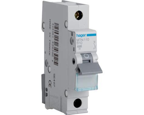 Miniature Circuit Breaker hager mtn120 range single pole miniature circuit breaker