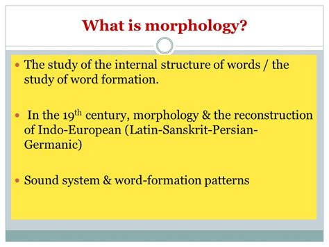 pattern word formation what is morphology word structure ppt video online download