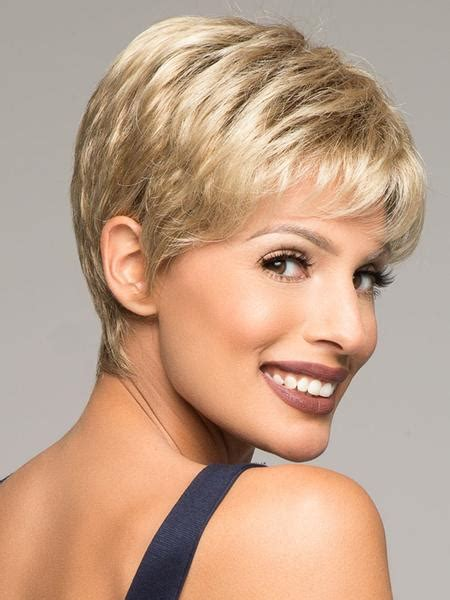 salt and pepper pixie cut human hair wigs air wig by ellen wille lace front wigs com the wig