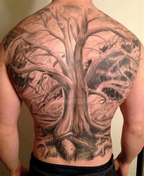 full back tattoos back tree by phil garcia tattoomagz