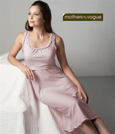Violet Lisya Nightdress Violet Lacesgstring ruffle trim nursing dress hushed violet