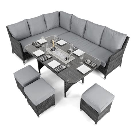 corner sofa dining maze rattan venice corner sofa dining set fla v 107535 grey