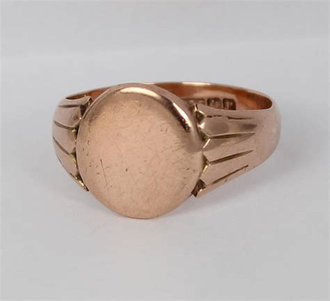 9ct gold mens antique signet ring ebay