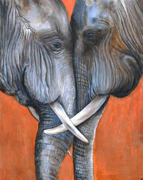 painting elephant elephant painting quot tembo nabilah quot original acrylic