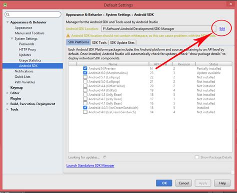 download android studio and sdk tools android developers change android sdk manager path in android studio ide