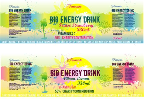 energy drink labels 2 3 energy drink label