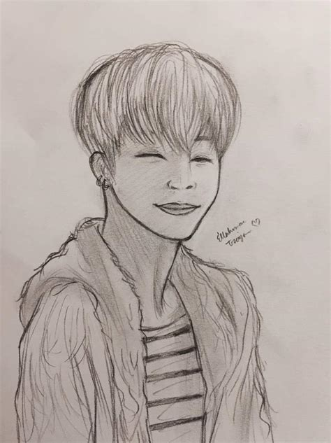 V Drawing Jimin by Bts Jimin Drawing Army S Amino
