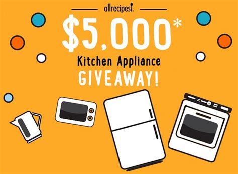 All Recipes Sweepstakes - all recipes 5 000 kitchen appliance giveaway sweepstakesbible
