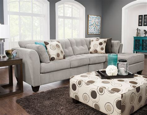 The Brick Living Room Furniture Designed2b Dez 3 Right Facing Textured Chenille Sectional Plush Pewter The Brick