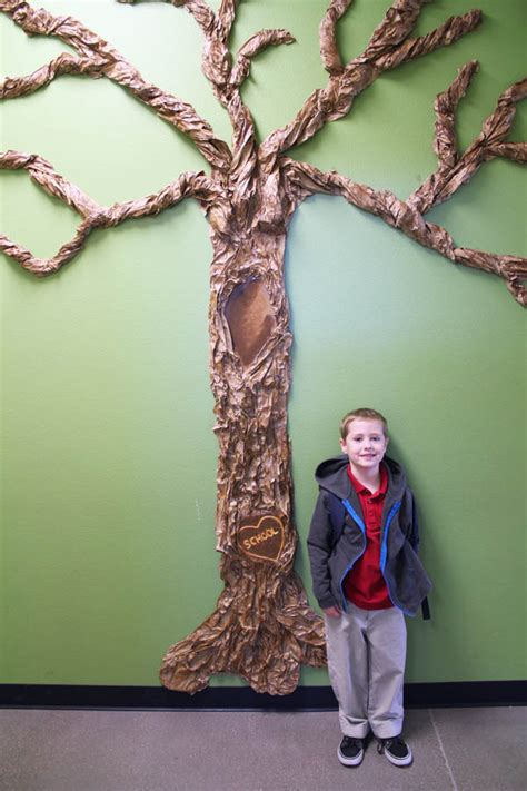 How To Make A Big Paper Tree - classroom wall tree