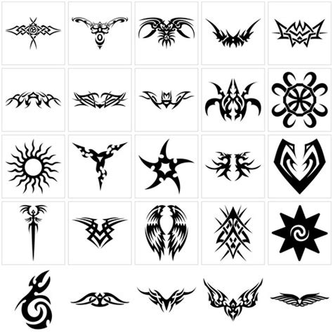 tattoo design: tribal tattoo symbols design