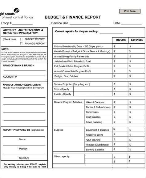 sle of budget report budget report template 28 images budget report