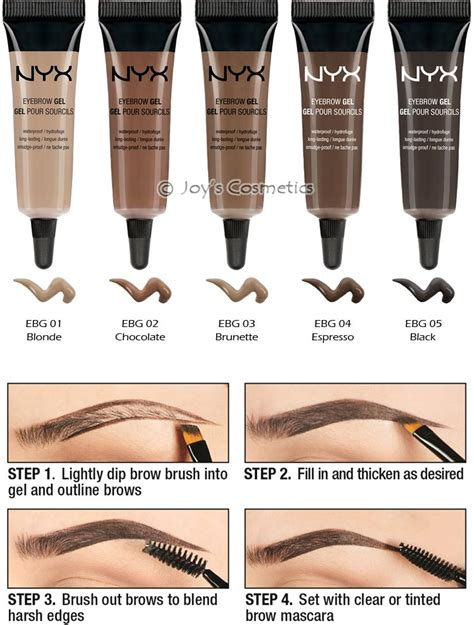Nyx Eyebrow Gel Clear 1 nyx waterproof eyebrow gel quot your 1 color quot s
