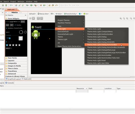 android design graphical layout android create custom theme