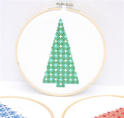 modern christmas tree cross stitch patterns do small