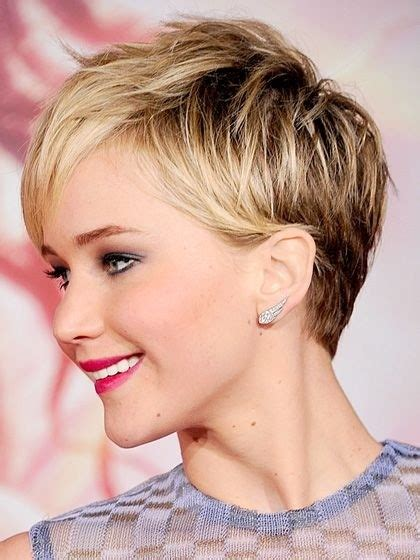 jennifer lawrence hair colors for two toned pixie 18 latest short layered hairstyles short hair trends for
