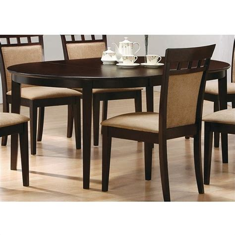 coaster hyde oval cappuccino dining table ebay