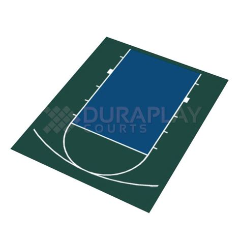dura play duraplay 20 ft 7 in x 24 ft 10 in half court basketball kit 1h green navy