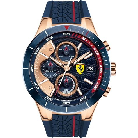 scuderia s blue rubber gold chronograph