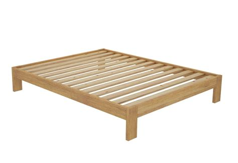 california timber bed frame without headboard