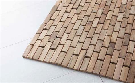 tappeti legno listelli tappeto wood essenza di cip 236 in listelli di teak