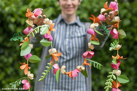 Make Paper Flower Garland - paper flower garland lia griffith