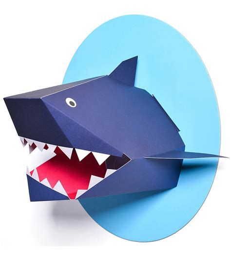 baby shark xander ford nursery works oceanography xander the shark paper bust