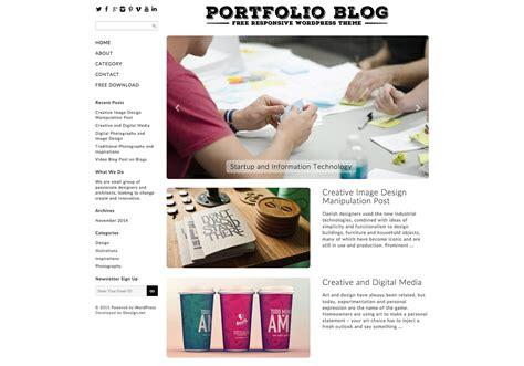 blog theme responsive free portfolio blog free responsive wordpress theme