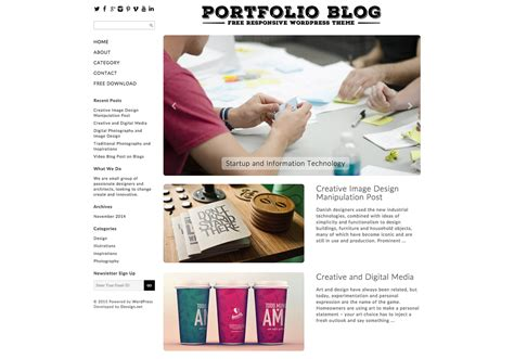 ajeeban free responsive wordpress theme for blog portfolio blog free responsive wordpress theme
