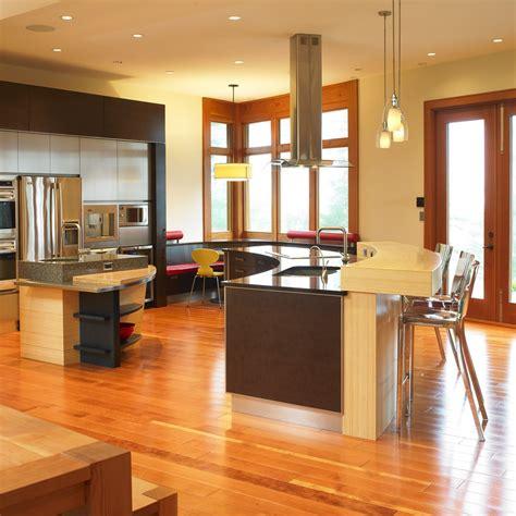 Exceptionnel Cuisine Moderne Ouverte Sur Salon #4: Idee-cuisine-ouverte-sur-salon-avec-bleu.jpg