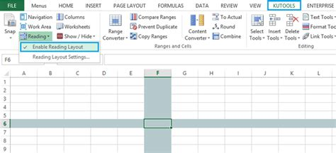 reading layout word 2013 kutools for excel 6 50 release notes