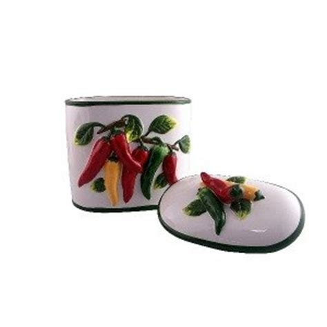cookie jar kitchen decor chili pepper