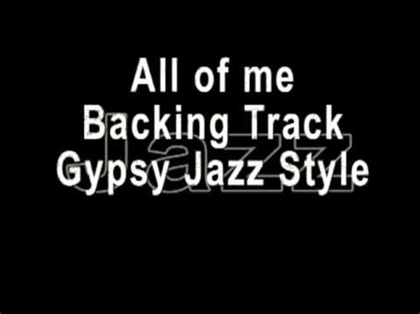 minor swing backing all of me jazz backing track