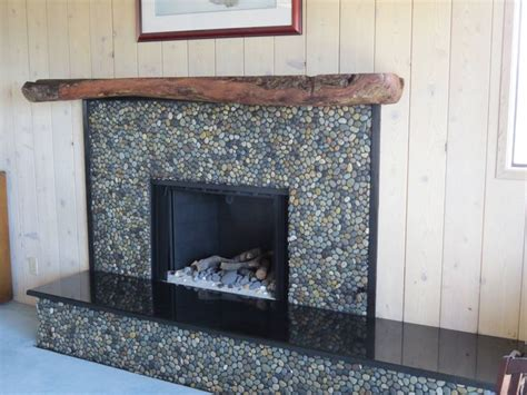 75 best images about fireplaces pebble and tile on