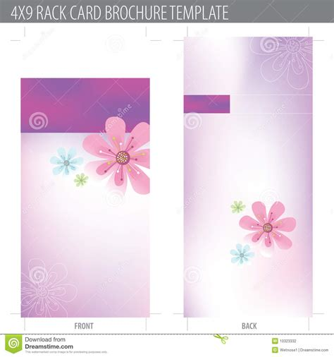 4 x 9 vertical rack cards templates 4x9 rack card brochure template stock vector