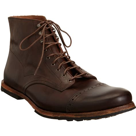 cap toe boots timberland wodehouse cap toe boot in brown for lyst