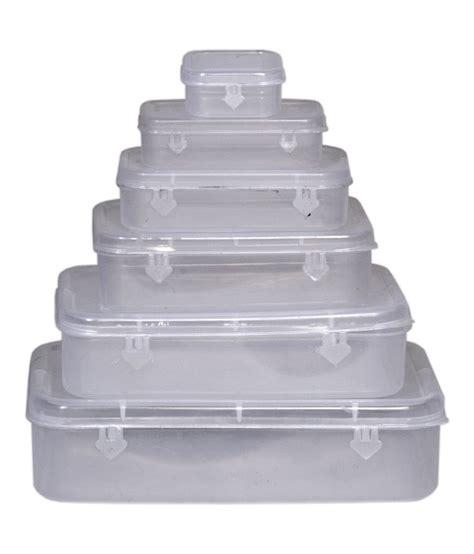 Celline Kotak Perkakas Storage Box 12 Sekat logic plastic keeper box set 6 white buy at best price in india snapdeal