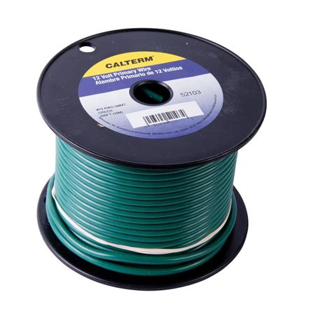 gardner bender 100 ft 10 awg primary wire spool green