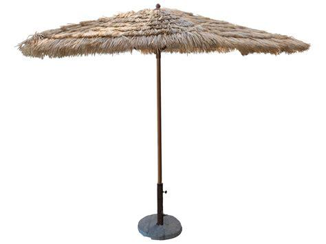Tiki Patio Umbrella by Panama Tiki 9 Ft Thatch Aluminum Crank Umbrella Pjo