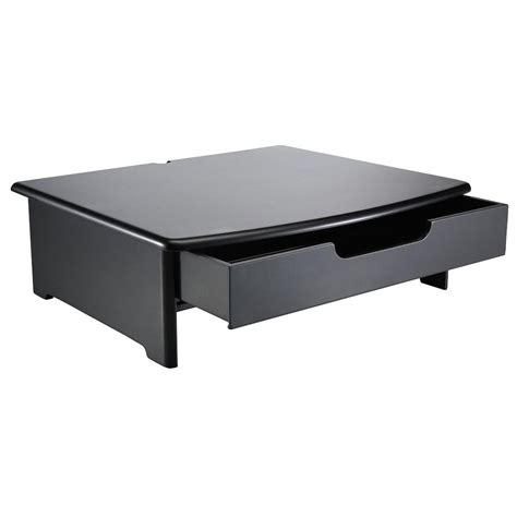 Computer Monitor Stand For Desk Computer Monitor Riser Stand Laptop Desk Tray Storage Drawer Desktop Organizer Ebay