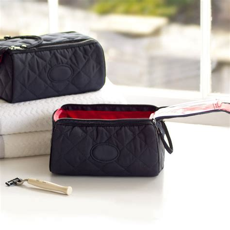 Quilted Toiletry Bag by Mens Quilted Toiletry Bag By Jodie