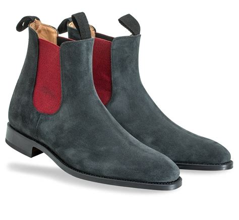 handmade gray suede chelsea boot ankle boot