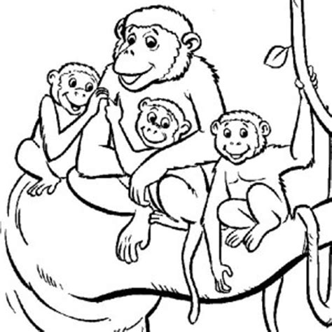 sad monkey coloring page how to draw sad families