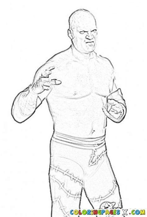 kane wwe free coloring pages