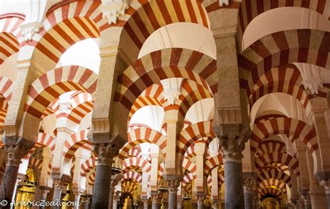 moorish spain the famous arches of the mosque at cordoba spain served as a mosque for 500 years now