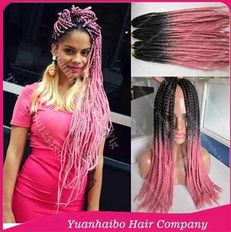 blonde pink black braids new fashion 22 quot two tone synthetic braiding hair black