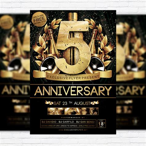 anniversary flyer template free anniversary premium flyer template cover